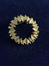 Vintage GoldTone Wreath Pin - $9.00