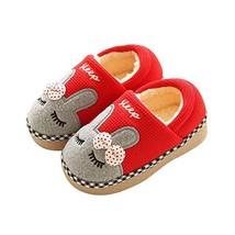Maybolury Boys Girls Home Slippers,Kids Cute Fur Lined Warm House Slippe... - $16.12