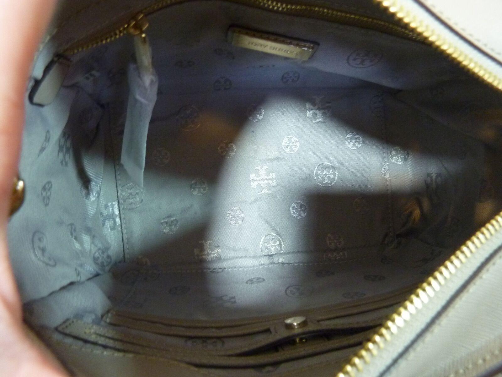 NWT Tory Burch French Gray Saffiano Leather Robinson Mini Square Tote image 9