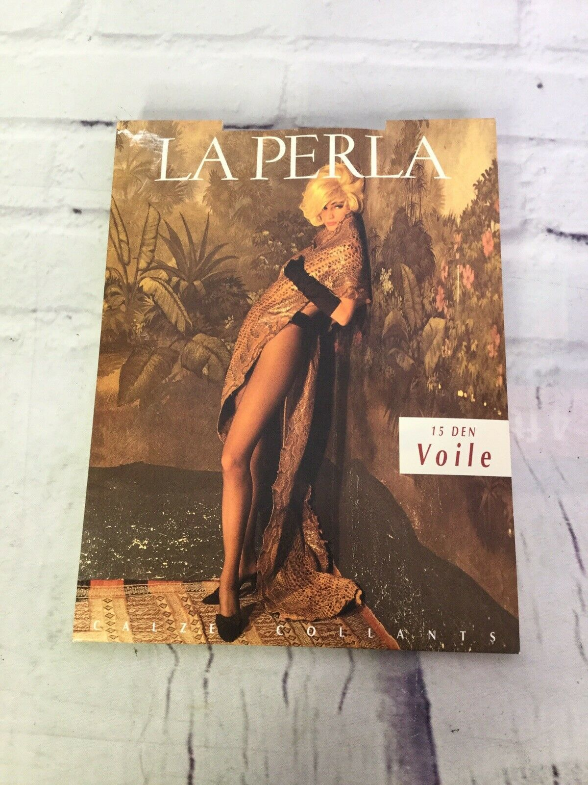 Primary image for La Perla Pantyhose 15 Den Semi Opaque Black Stockings Hosiery Size 4 Vintage NEW