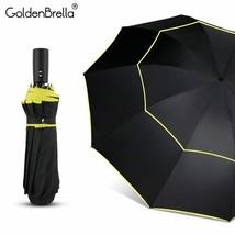 GoldenBrella® New Big 120cm Fully-automatic Umbrella Men Rain Woman Double - $34.37