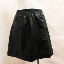 Ann Taylor Loft S Skirt Black Faux Imitation Leather Mini NWT - $34.28