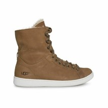 Ugg Starlyn Chestnut Nubuck Hight Top Sporty Women's Sneakers Size Us 6.5 New - $89.24