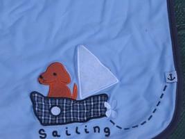 VINTAGE GYMBOREE BABY BOY BLANKET RECEIVING SWADDLING COTTON BLUE SAILIN... - $39.59