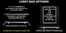 "Custom LED Sign, LED Acrylic 23.25"" x 14"", Design your own sign image 4"