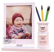 7-inch Baby Photo Frame Children Picture Frames Cute Photo Frame Pen Holder