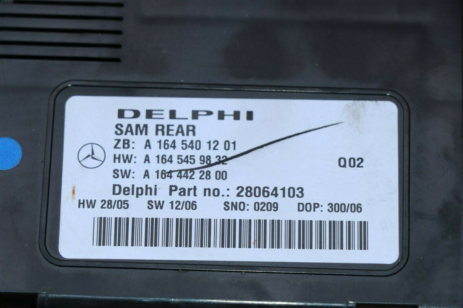 Mercedes Signal Aquisition Module SAM REAR A1645401201 Delphi 28064103