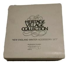 Dept 56 Héritage Village Neuf Angleterre Hiver Accessoire Set 5 Chiffres... - $14.04