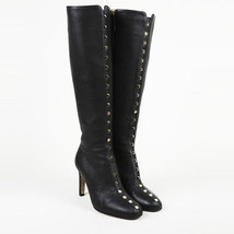 "Valentino Leather ""Rockstud"" Knee High Boots SZ 38 - £535.76 GBP"