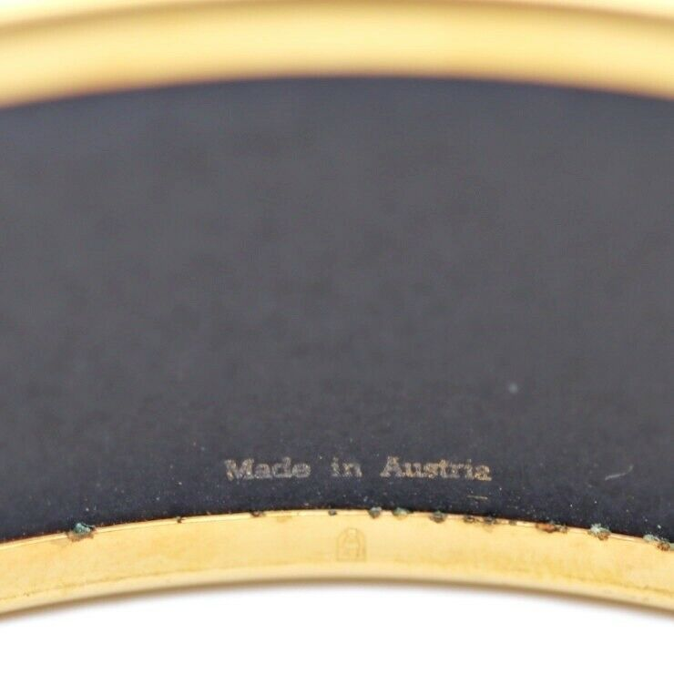 Hermes enamel GM carriage gold gray Ladies Auth