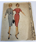 McCalls Vintage Sewing Pattern 5631 1960's Size 12 Bust 32 Dress & Jacke... - $10.85