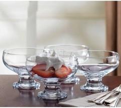 Home Essentials 3 Piece Set Essentials Home Footed Glass Dessert Dishes ... - $18.69