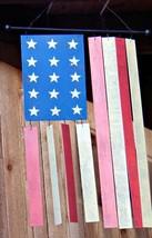 AMERICAN FLAG WIND CHIMES ~ Metal Construction ~ Stars + Stripes ~ Antiq... - $9.89