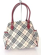Burberry Blue Label Handbag Beige Color Check Bottom Dirt Used - $123.99