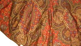 Ralph Lauren Equestrian Paisley Twin Pleated Bedskirt Vintage Multicolor EUC USA - $39.57