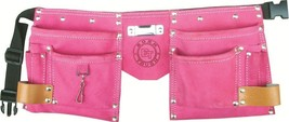Little Girls Suede Leather Pink Tool Pouch Bag Belt - $27.95