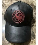 OFFICIAL Game of Thrones HOUSE TARGARYEN - Black Adjustable Hat Cap Curv... - $39.59