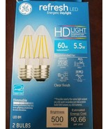 GE Refresh Daylight LED Dimmable Standard Base Bulb 2-Pack, 60w Replacement - $29.28