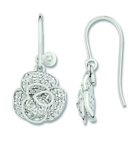 Earrings cacharel pendant  with Sheets Sterling Silver 0,925 CSW390zZ - $74.25