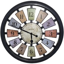 Westclox 36014 18 Round Colored Panels See-Through Clock - $40.15