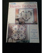 Leisure Arts 1560 Hearts to Quilt 1994 Carol Armstrong 4 Wall Hanging Pr... - $2.99
