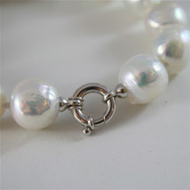 18K WHITE GOLD BRACELET WITH STRAND OF WHITE FW PEARLS 7.87 INCHES MADE IN ITALY image 1