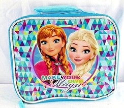 Disney Frozen Insulated Lunchbox Teal Elsa/Anna Make Your Own Magic - $17.99