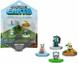 Minecraft Earth Boost Mini 4 pack Polar Bear Seeking Wolf Snacking Rabbit Gaming - $11.86