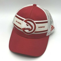 Adidas Atlanta Hawks Retro Logo Red White Mesh Back Snapback Hat Cap Emb... - $27.99