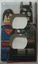 Superman Batman Light Switch Duplex Outlet wall Cover Plate home decor image 2