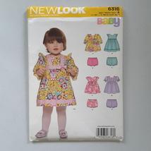 Simplicity NEW LOOK Babies Sewing Dress Pattern 6316 Size A NB-L Uncut 2014 - $8.05