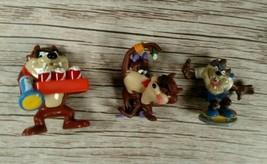 RARE 3 Looney Tunes TAZ Tasmanian Small Figures 1990's/2000's Warner Bros.  - $14.01
