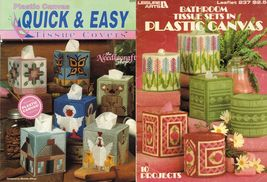 2X Quick & Easy Tissue Top Covers & Bathroom Tissue Sets Plastic Canvas ... - $13.99