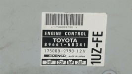 Lexus Toyota 1UZ-FE Engine Control Unit Module ECU ECM PCM 89661-50341 image 2
