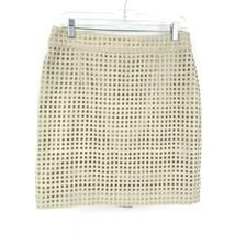 Banana Republic Women's Size 8 Pencil Skirt Woven Eyelet Silver Dollar B... - $30.84