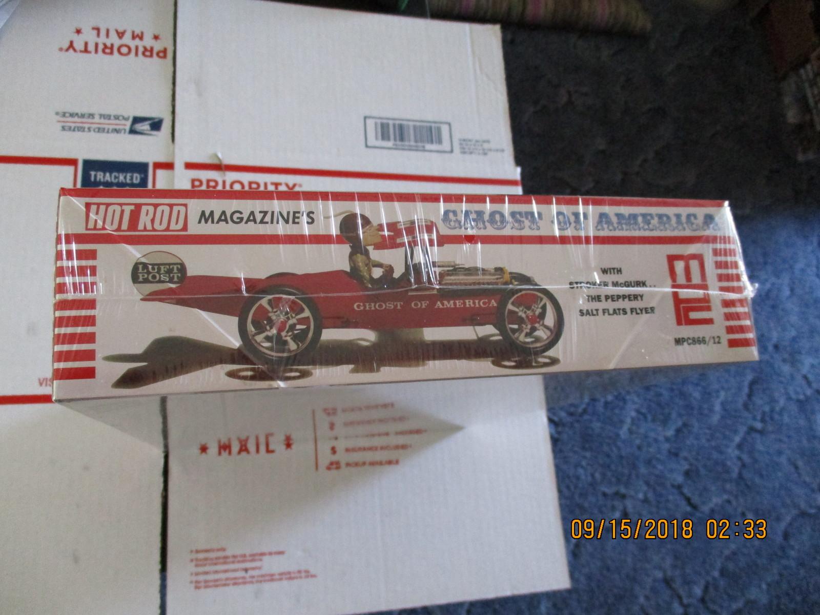 MPC Hot Rod Magazines RETO Stroker McGurk Ghost of America Hot Rod 1/18 scale