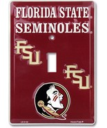 Florida State FSU Seminoles Aluminum Novelty Single Light Switch Cover - $7.95