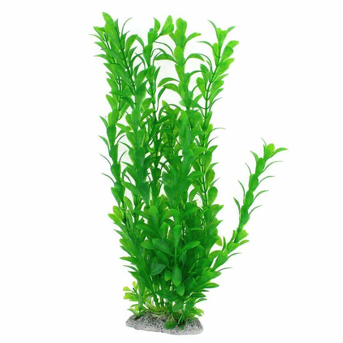 NEW Uxcell 13-Inch Green Emulational Aquarium Water Grass Plant Decoration NIP
