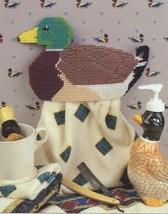 Mallard Duck Towel Holder Annie's Plastic Canvas Pattern Leaflet - $1.77