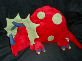 JELLYCAT RED & GREEN SPOTS TRICERATOPS DINOSAUR DINO STUFFED ANIMAL PLUS... - $32.73