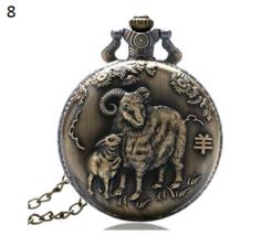 Antique Animal Watch Necklace Pendant Bronze Chinese Zodiac Commemorative 8 - $12.90