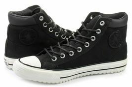 Converse Mens CTAS PC Boot  Leather 153675C Almost Black/Egret/Black Sizes 9 10 - $59.99