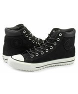 Converse Mens CTAS PC Boot  Leather 153675C Almost Black/Egret/Black Size 9 - $53.63