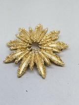 AVON Fantastic Fireworks Looking Gold Tone Vintage Brooch Pin - $17.99