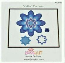 Bosskut Dies, Set of 3, Mini Tags II, Oval Ribbon Slide, Scallop Cutouts image 3
