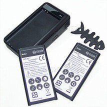 2x 6070mAh Li-ion Battery Charger Winder for Verizon Samsung Galaxy S5 S... - $45.88
