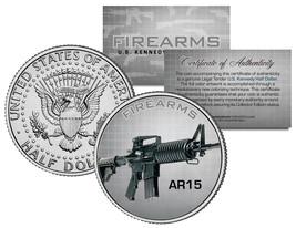 AR15 Gun Firearms JFK Kennedy Half Dollar US Colorized Coin - $8.56