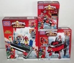 LOT Mega Bloks ✰ 5824 5756 5772 ✰ Power Rangers Super Samurai KEY LAUNCH... - $62.99