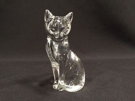 Lenox Clear Crystal Animal Collection Cat Figurine 4 1/2 Inches - $14.99