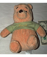 "THE WONDERFUL WORLD OF DISNEY 10"" WINNIE THE POOH IN SHIRT PLUSH BABY RA... - $15.45"